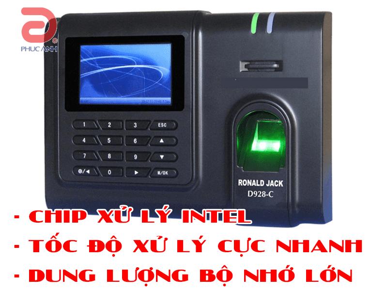 Máy chấm công vân tay thẻ Ronald Jack D928C