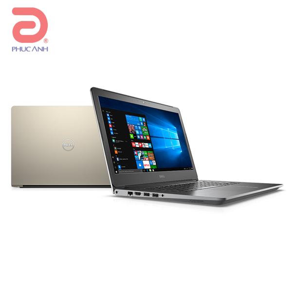 Laptop Dell Vostro 5468-VTI5019W (Gold/vỏ nhôm)- CPU Kabylake,vỏ nhôm