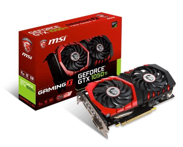 VGA MSI GTX 1050 TI GAMING X 4G (NVIDIA Geforce/ 4Gb/ DDR5/ 128Bit)