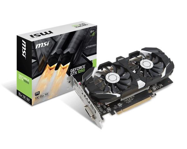 VGA MSI GTX 1050 2GT OC (NVIDIA Geforce/ 2Gb/ DDR5/ 128Bit)
