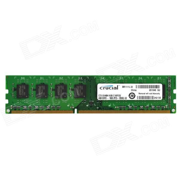 RAM Crucial  8Gb DDR3L 1600 Non-ECC (For Skylake)