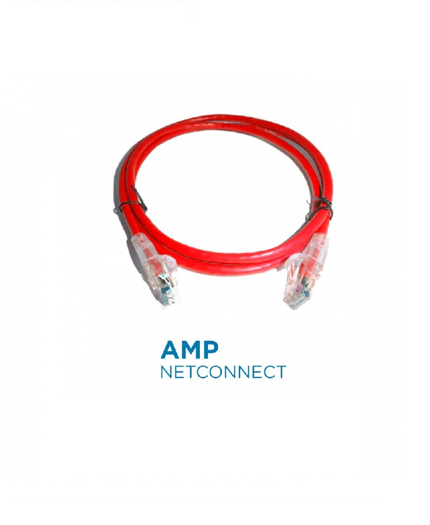 PatchCord Commscope/AMP 1-1859241-0 Cat5e SL, Red, 10 Ft