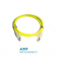 PatchCord Commscope/AMP 1859243-5 Cat5e SL, Yellow, 5 Ft