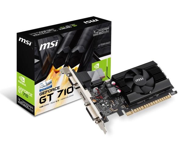 MMSI GT710 1GD3 LP (NVIDIA Geforce/ 1Gb/ DDR3/ 64Bit)