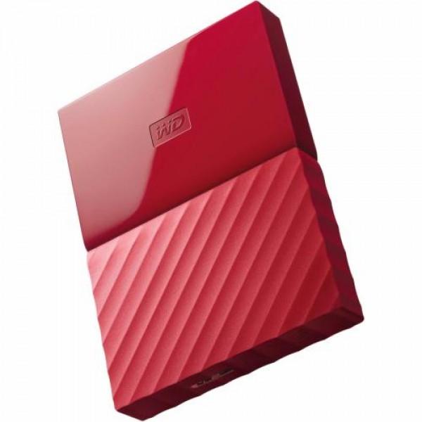 Ổ cứng di động Western Digital My Passport 1Tb USB3.0 New - Đỏ
