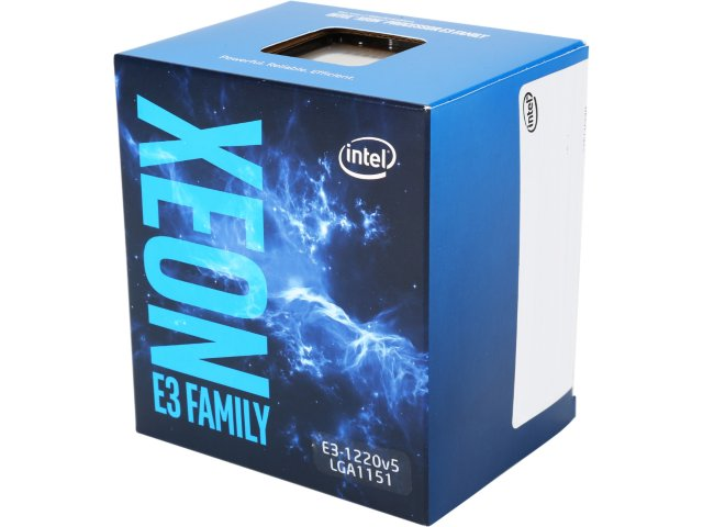 CPU Intel Xeon E3 1220V5 (Up to 3.5Ghz/ 8Mb cache)