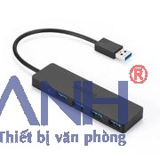 Bộ chia USB 1 ra 4 Vention (USB3.0-Đen) 15cm