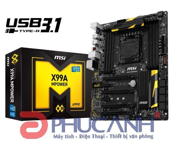 MSI X99A Mpower (Chipset Intel X99/ Socket SK2011-3/ Không)