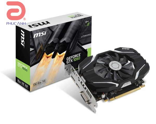 VGA MSI GTX 1050 2G OC (NVIDIA Geforce/ 2Gb/ DDR5/ 128Bit)