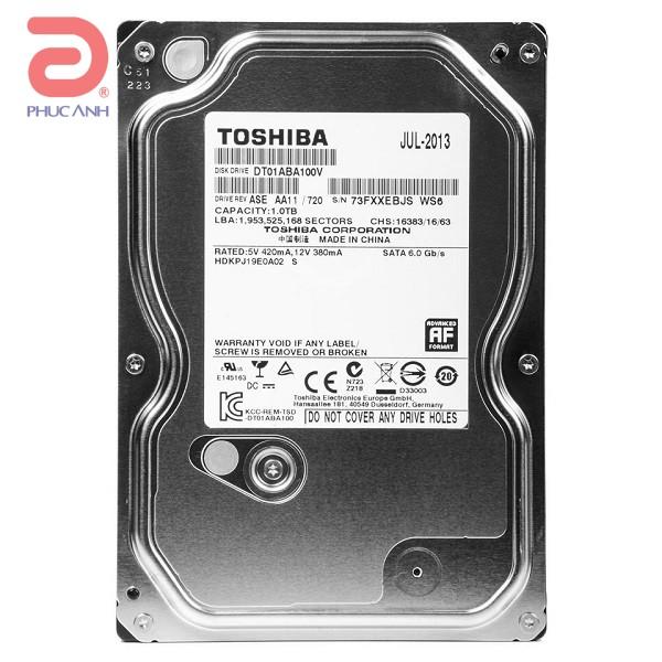 Ổ cứng HDD Toshiba Surveillance 1Tb 5700rpm