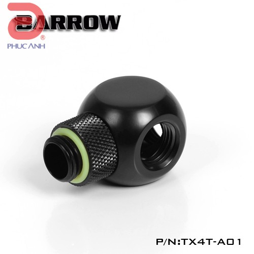Ống nối Barrow Adapter metal 3way (đen)