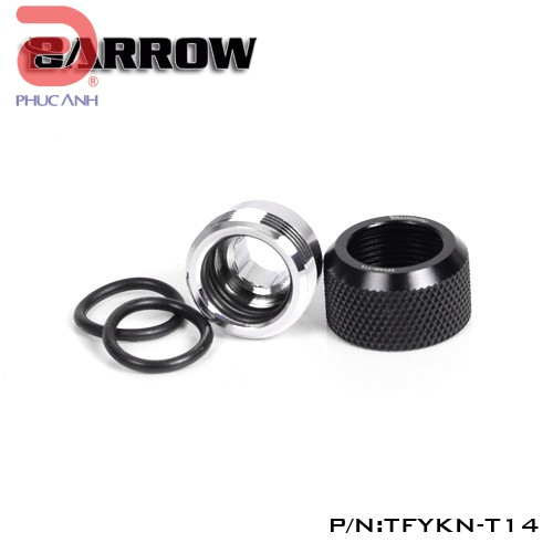 Ống nối Fitting Barrow Hard OD : 14 (đen)