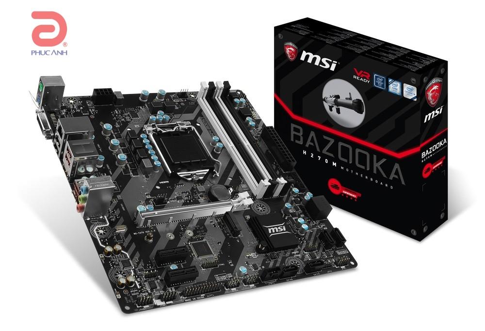 Main MSI H270M BAZOOKA (Chipset Intel H270/ Socket LGA1151/ VGA onboard)