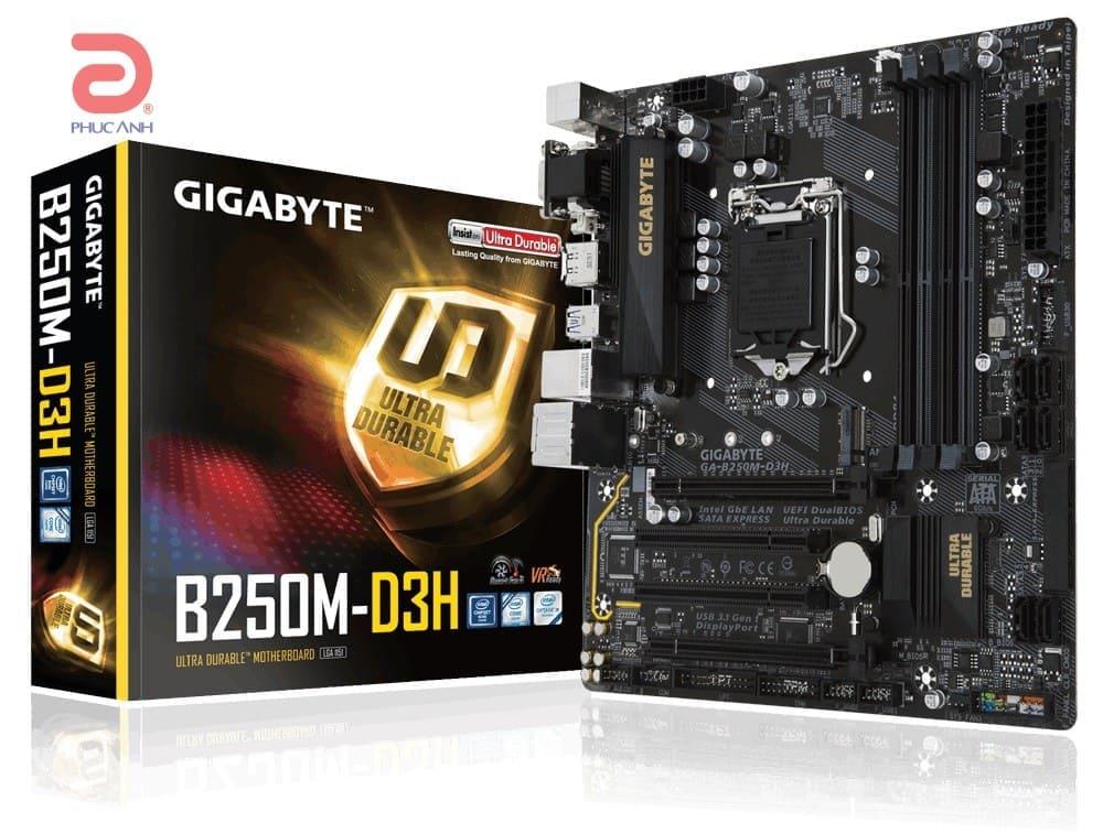 Main Gigabyte B250M-D3H (Chipset Intel B250/ Socket LGA1151/ VGA onboard)