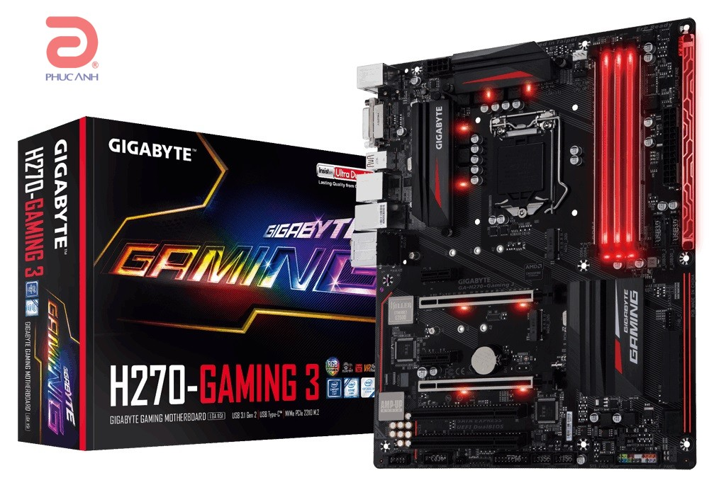 Main Gigabyte H270-Gaming 3 (Chipset Intel H270/ Socket LGA1151/ VGA onboard)