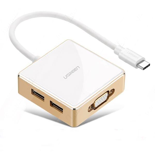 Cáp chuyển Ugreen 30442 USB-C (Type C) sang VGA và USB 3.0