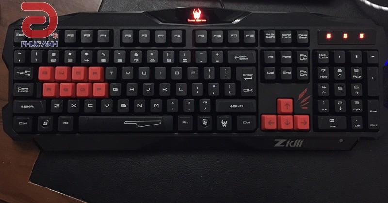 Bàn phím Zidli ZK100-2 (PS/2, Có dây)