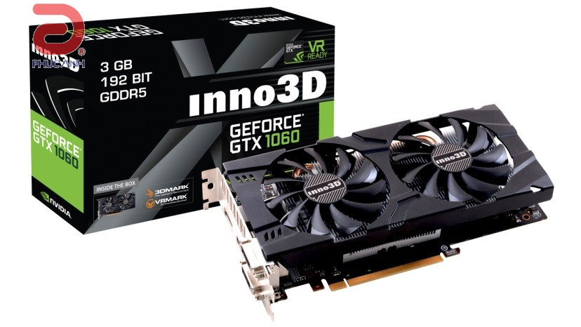 Inno3D GTX1060 Twin X2 3Gb (NVIDIA Geforce/ 3Gb/ DDR5/ 192Bit)