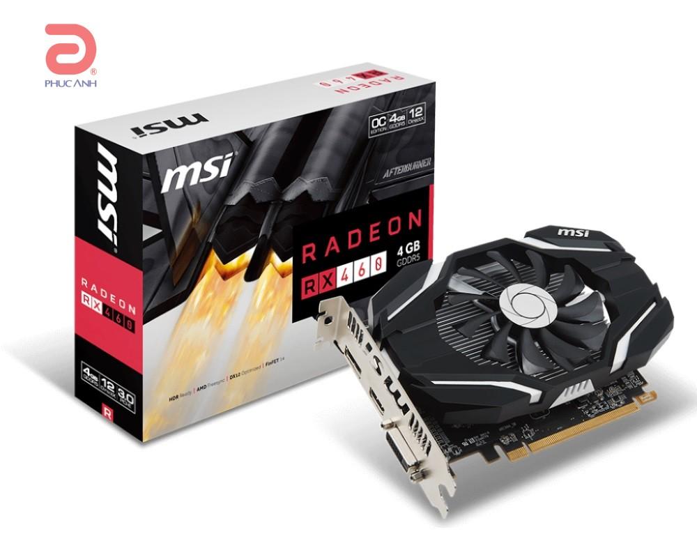 VGA MSI RX460 4G OC (AMD Radeon/ 4Gb/ DDR5/ 128 Bits)