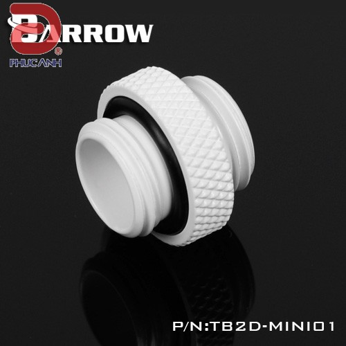 Ống nối Fitting Barrow Male to Male 5mm (Trắng)