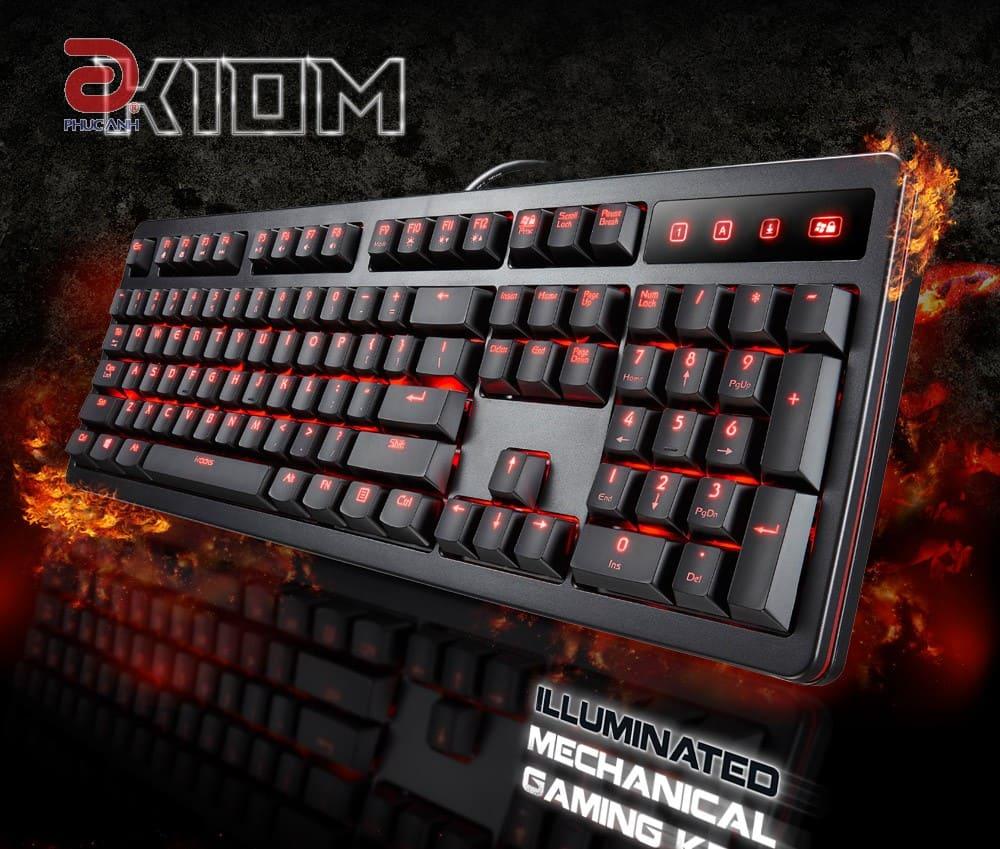 Bàn phím  cơ I-Rocks IRK10M Gaming (USB, Có dây)