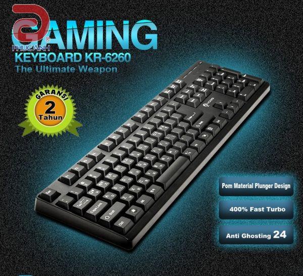 Bàn phím bán cơ I-Rocks KR6260 Gaming (USB, Có dây)