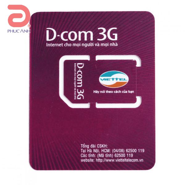 Sim Viettel 3G DC500