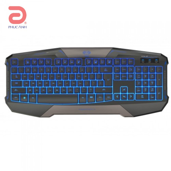 Bàn phím Eblue Cobra Commander Gaming (EKM708) (USB, Có dây)
