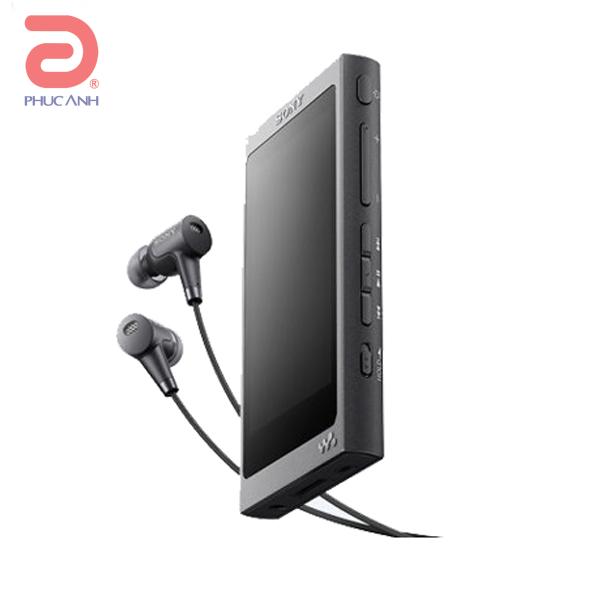 Máy nghe nhạc MP4 Sony NW NW-A36HN (kèm tai nghe chống ồn) - Đen