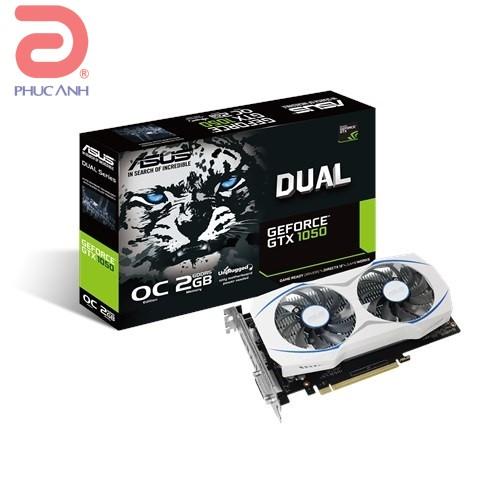Asus DUAL-GTX1050-O2G (NVIDIA Geforce/ 2Gb/ DDR5/ 128 Bits)