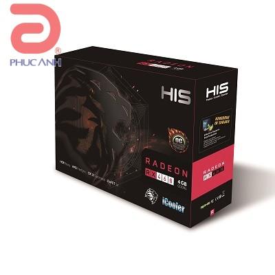 HIS RX 460 iCooler OC 4GB (AMD Radeon/ 4Gb/ DDR5/ 256 Bits)