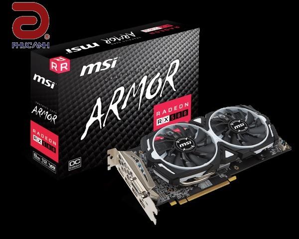 VGA MSI RX 580 ARMOR 8G OC (AMD Radeon/ 8Gb/ DDR5/ 256 Bits)