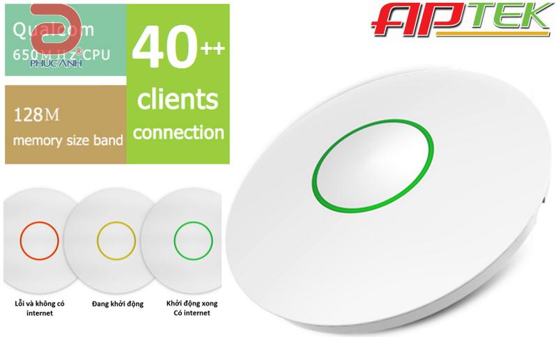 Bộ thu phát APTEK W312 - Wifi 300mbps