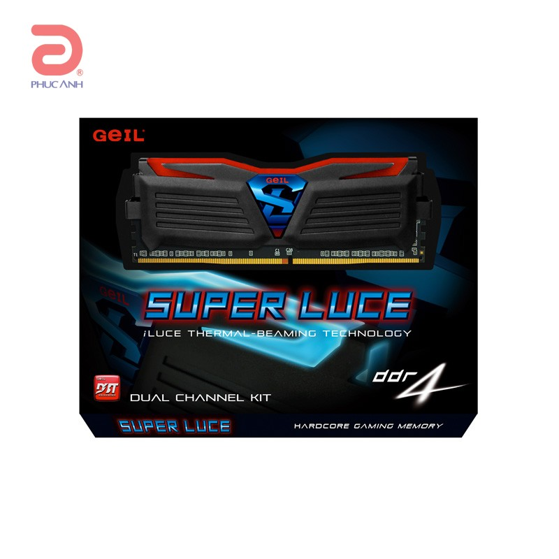 RAM Geil SUPER LUCE DDR416Gb (2x8Gb) 2400 (GLB416GB2400C16DC) LED