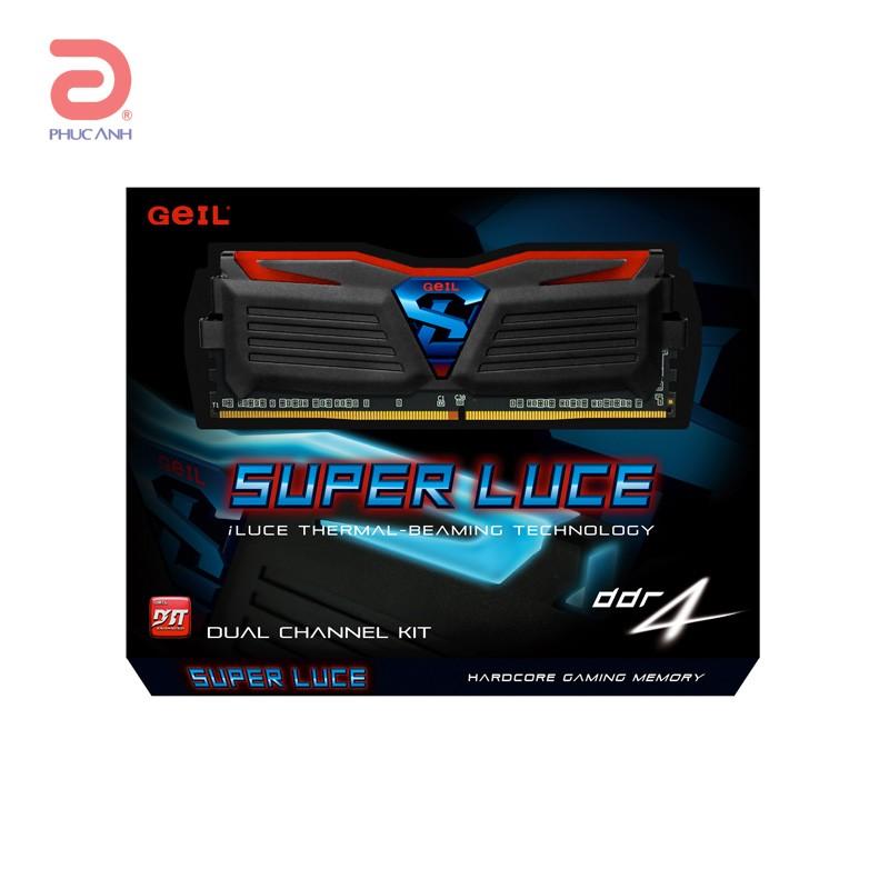 RAM Geil SUPER LUCE DDR4 8Gb (2x4Gb) 2400 (GLB48GB2400C16DC) LED