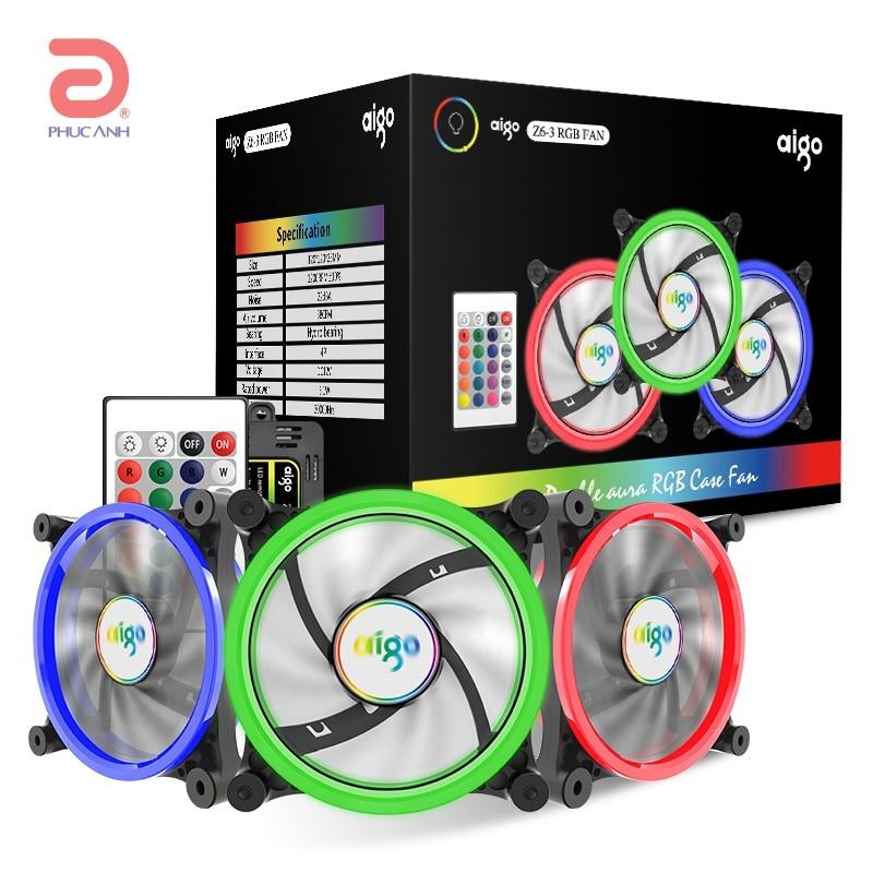 Quạt case Aigo Z6-3 RGB (3PCS/PACK)