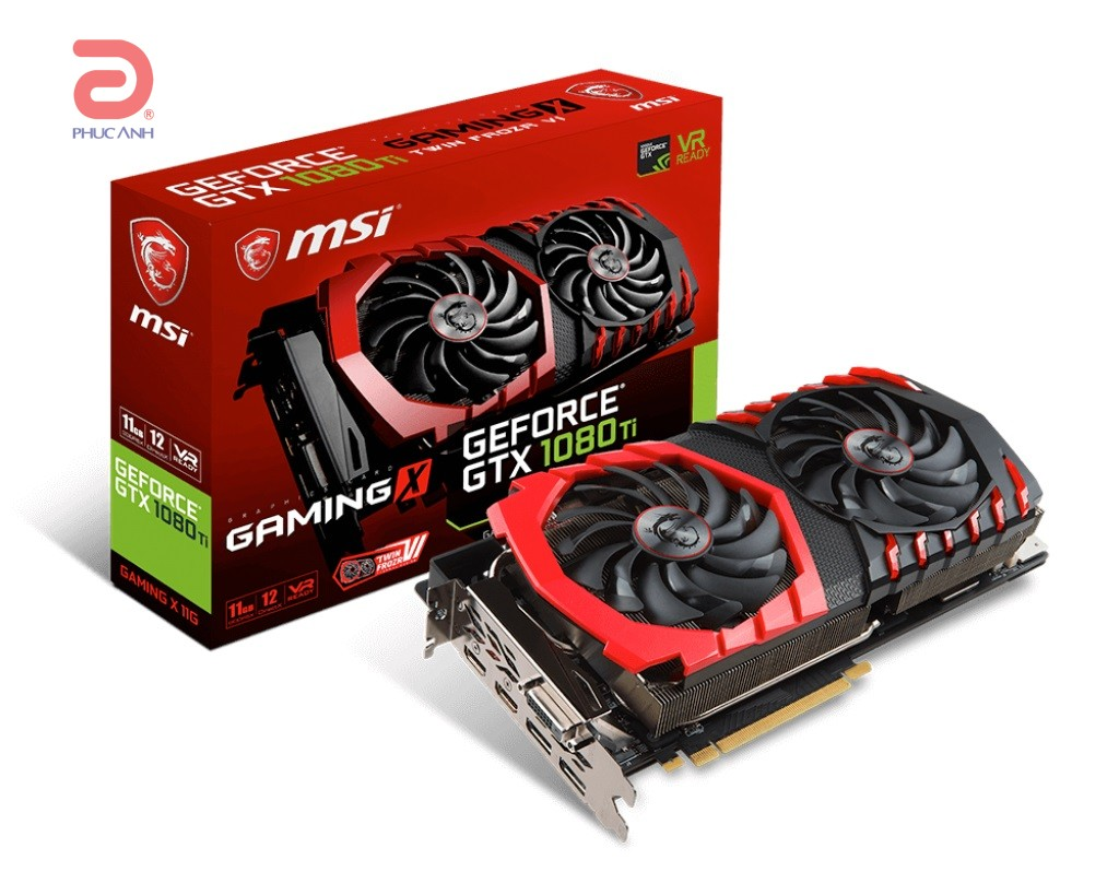 VGA MSI GTX 1080 TI GAMING X 11G (NVIDIA Geforce/ 11Gb/ DDR5X/ 352Bit)