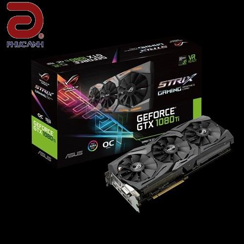 VGA Asus ROG-STRIX GTX1080TI-O11G-GAMING (NVIDIA Geforce/ 11Gb/ DDR5X/ 352Bit)
