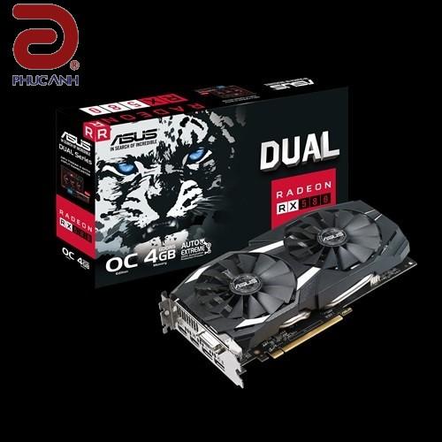 VGA Asus DUAL-RX580-O4G (AMD Radeon/ 4Gb/ DDR5/ 256 Bits)