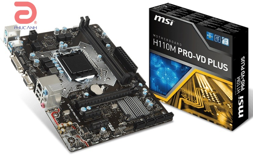 Main MSI H110M PRO-VD PLUS (Chipset Intel H110/ Socket LGA1151/ VGA onboard)