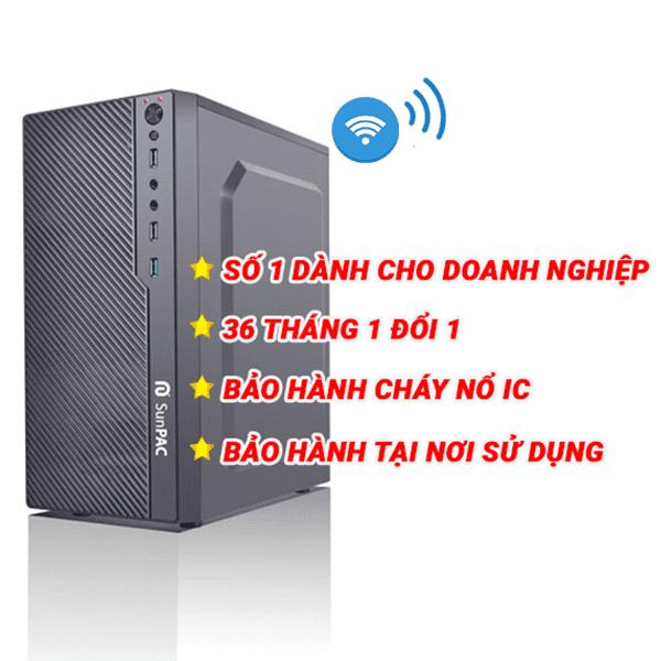 Máy tính để bàn Sunpac Mini Tower  PG444MTW Wifi/ Pentium/ 4Gb/ 500Gb/ Dos