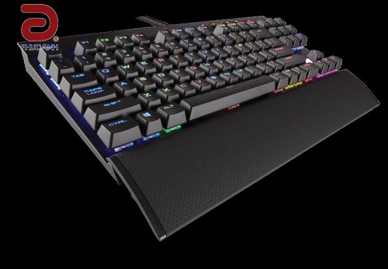 Bàn phím cơ Corsair K65 LUX RGB MX Red (CH-9110010-NA) (USB, Có dây)