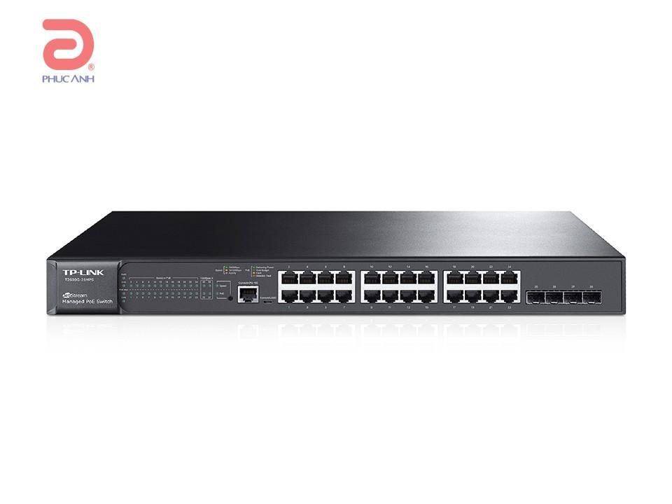 Thiết bị chia mạng TP-Link T2600G-28MPS