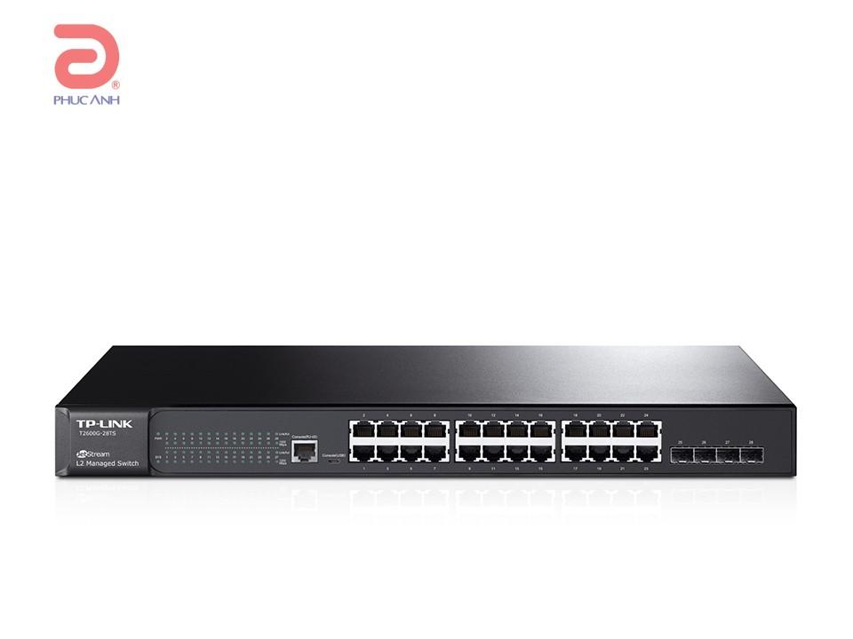 Thiết bị chia mạng TP-Link T2600G-28TS