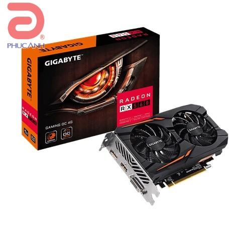 VGA Gigabyte RX 560 Gaming OC 4G (AMD Radeon/ 4Gb/ DDR5/ 128 Bits)