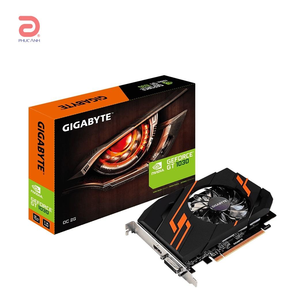 VGA Gigabyte GT 1030 OC 2G (NVIDIA Geforce/ 2Gb/ DDR5/ 64Bit)