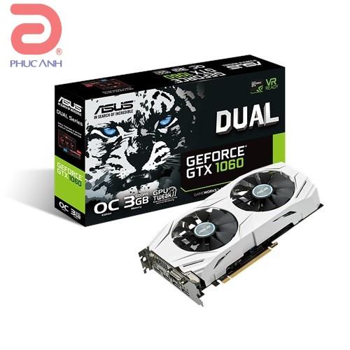 VGA Asus DUAL GTX1060-O3G (NVIDIA Geforce/ 3Gb/ DDR5/ 192Bit)