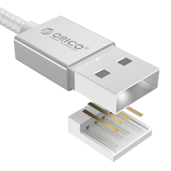 Cáp Micro USB Orico EDC-10 Silver
