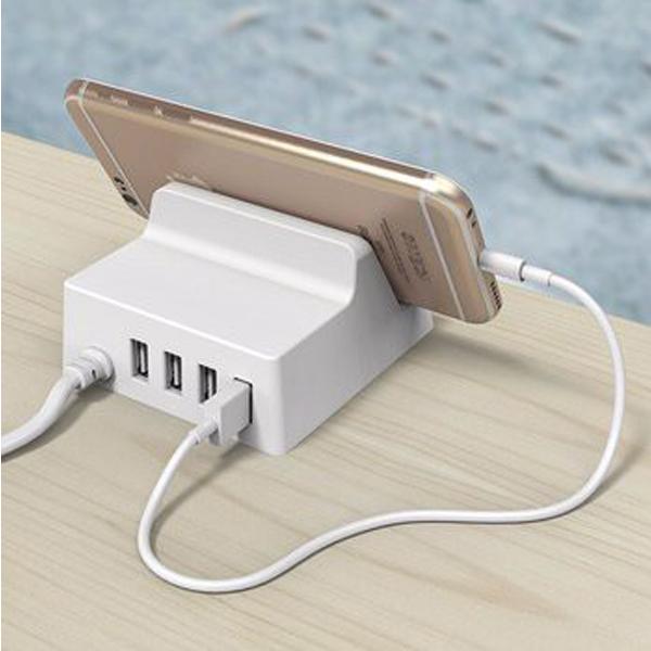 Đế sạc cho ĐT Orico USB CHK-4U (4 cổng/2.4A) -White