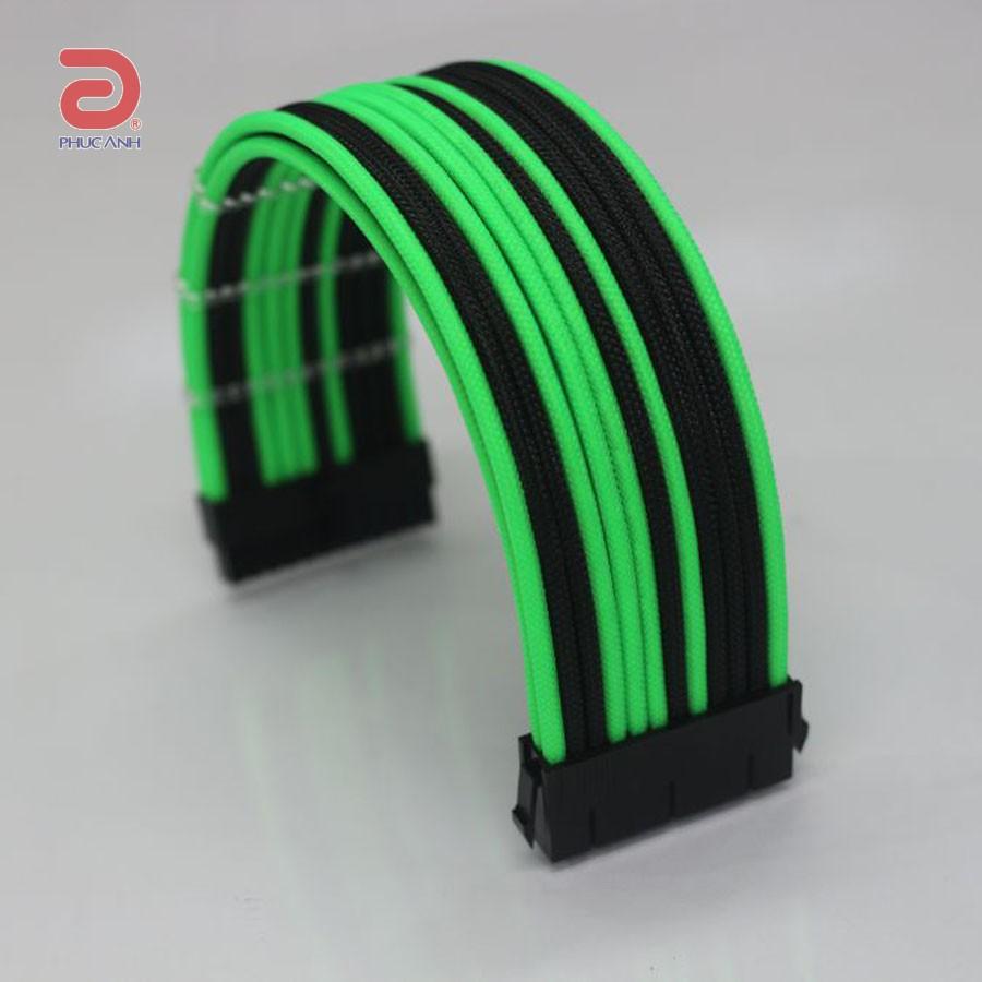 Cáp dây nguồn bọc lưới Green Lantern 24 pin